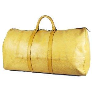 Louis Vuitton Sac de voyage jaune clair cuir