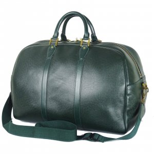 Louis Vuitton Bolso de viaje verde bosque Cuero