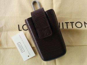 Orig. Louis Vuitton LV Handyhülle Handytasche Karabiner Epi Leder schokobraun