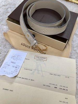 Louis Vuitton Lederen riem wolwit Leer