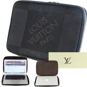 ORIG. LOUIS VUITTON NOTEBOOK LAPTOP CASE COMP SLEEVE DAM. GANT BLACK / SEHR GUT