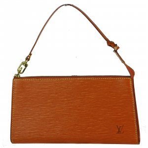 Louis Vuitton Clutch cognac-coloured leather