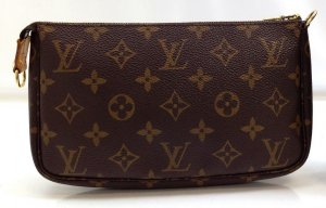 Louis Vuitton Borsa clutch marrone-beige Pelle