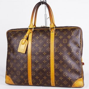 "ORIG. LOUIS VUITTON ""PORTE DOCUMENTS VOYAGE"" Akten- Laptop-Tasche / GUT"