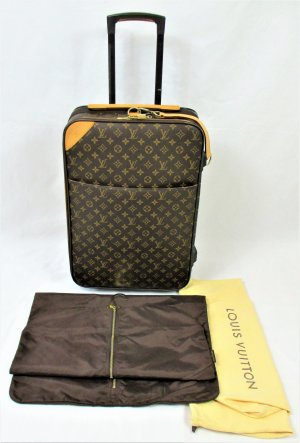 Orig. Louis Vuitton Reisetrolley/Canvas/Rindsleder/Braun/Gold/HERVORRAGEND!