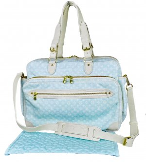 Louis Vuitton Crossbody bag baby blue-white