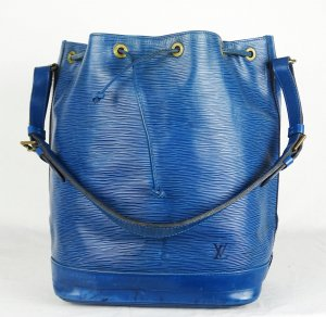 "ORIG LOUIS VUITTON ""SAC NOE"" BLAU EPI LEDER Beutel /GROSS / GUT"