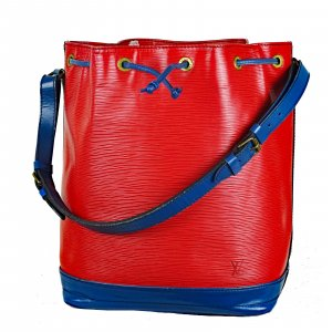 Louis Vuitton Sac seau rouge-bleu