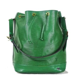 Louis Vuitton Borsellino verde Pelle