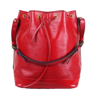 Louis Vuitton Sac seau rouge cuir