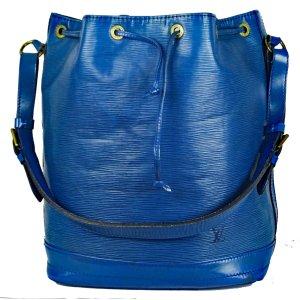 Louis Vuitton Sac seau bleu foncé cuir