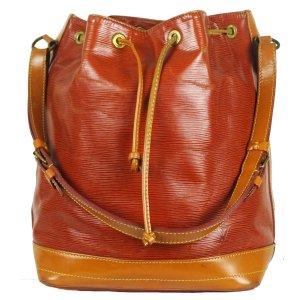 Louis Vuitton Sac seau cognac-marron clair cuir