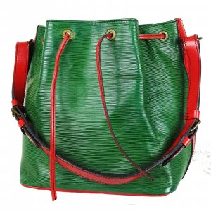 Louis Vuitton Borsellino verde-rosso lampone Pelle