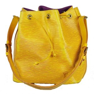 Louis Vuitton Pouch Bag yellow leather
