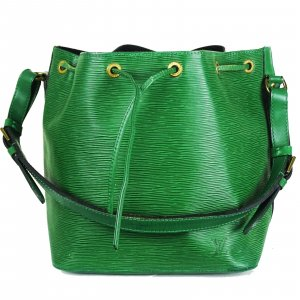 Louis Vuitton Pouch Bag green leather