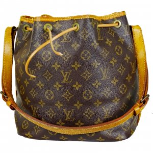 ORIG LOUIS VUITTON SAC PETIT NOE MONOGRAM CANVAS BEUTEL TASCHE KLASSIKER / GUT