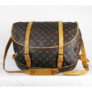 "ORIG. LOUIS VUITTON ""SAUMUR 43"" XXL JUMBO Messenger-Bag Weekender Gepäck / GUT"