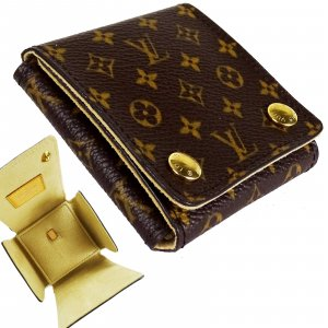 ORIG. LOUIS VUITTON SCHMUCK ETUI JEWELRY CASE RING MONOGRAM CANVAS / NEUWERTIG