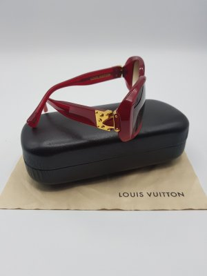 Louis Vuitton Zonnebril goud-donkerrood