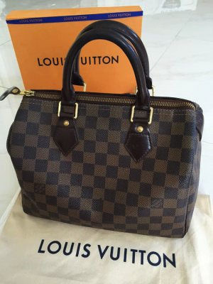 Louis Vuitton Carry Bag brown-black brown leather