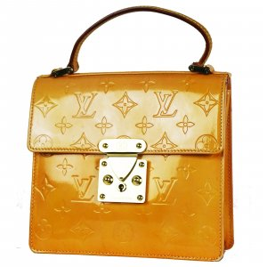 Louis Vuitton Sac Baril orange foncé cuir