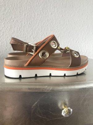 Marc Cain Plateauzool sandalen veelkleurig Leer