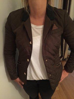 Orig MASSIMO DUTTI Jacket Jacke barbour Gr.S gesteppt braun NEU 129€