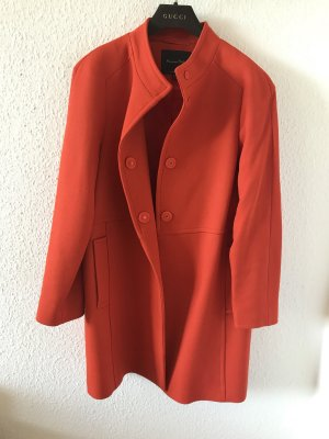 Orig MASSIMO DUTTI MANTEL oversize Jacke orange wNeu S Wolle Must Have Wollmantel