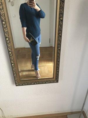 Orig MASSIMO DUTTI Pullover blau petrol S wNeu CASHMERE Kaschmir