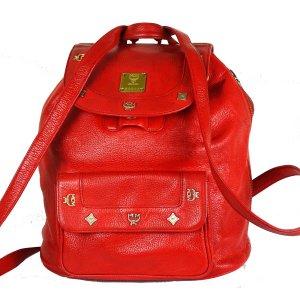 MCM Shoulder Bag brick red leather