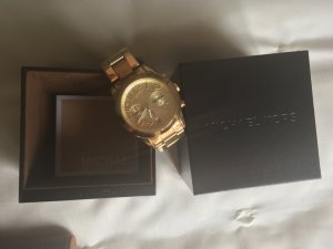 Michael Kors Horloge met metalen riempje goud Edelstaal