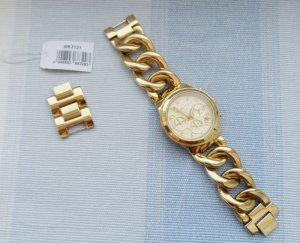 orig. Michael Kors Damenchronograph MK3131 Gold NP 229 € wenig getragen
