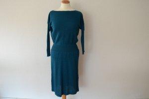 Orig. MISSONI Traum Kleid aus Strick D 38 IT 44 aktuell petrol Strickkleid