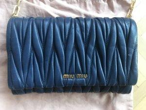 Orig. Miu Miu Matelassé Handtasche navy blau