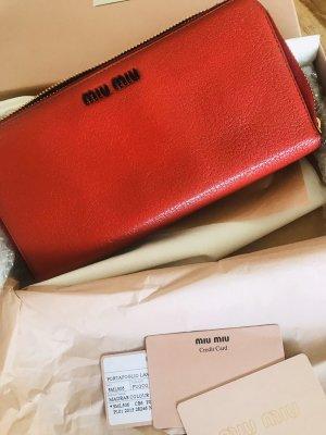 Miu Miu Portafogli rosso-rosso mattone