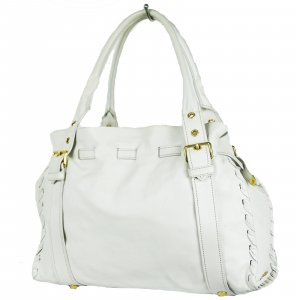 Prada Shoulder Bag white leather