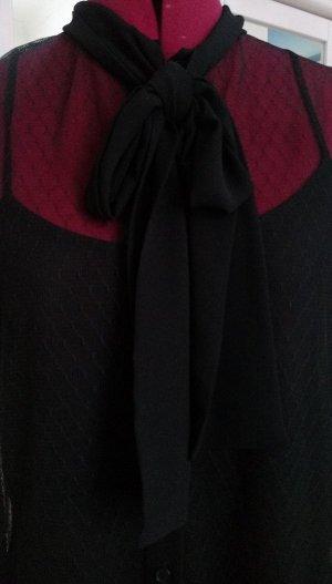 Orig. MK Michael Kors Bluse Hemd Schwarz 38 M Spitze Schleife festlich Bluse NEU  OHNE Unterhemd