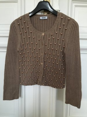 Orig. Moschino Cheap & chic Cardigan Jacke 36 - 40 Strickjacke Gold Perlen Pulli