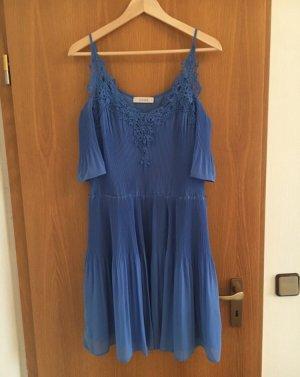 *orig. Oasis Kleid UK 12  M/38 Spitze Pliseefalten blau NP 79€ NEU*