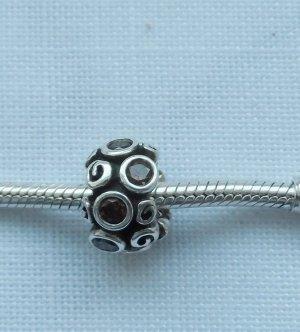 Pandora Dije color plata-marrón plata verdadero