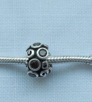 Pandora Ciondolo argento-marrone Argento
