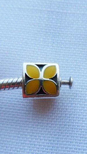 orig Pandora Element 790437ENO gelbe Emaille sehr selten wenig getragen retired