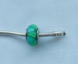 Pandora Charm turquoise real silver