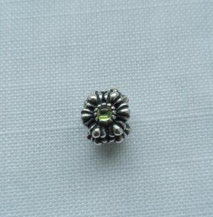 orig PANDORA Element Blume 790580PE 925 Silber u. Peridot wenig getragen retired