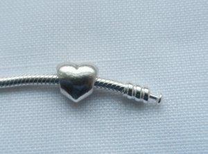 orig. Pandora Herz 790137 aus 925 Silber wenig getragen