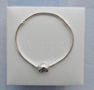 orig. Pandora Herz Armband 19 cm aus 925 Silber NEU