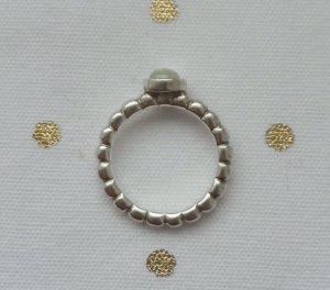 orig. PANDORA Ring 190244PR-56, 925 Silber und Prehnite wenig getragen