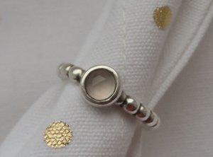 orig. PANDORA Ring 190244RQ-56, 925 Silber und Rosenquarz wenig getragen