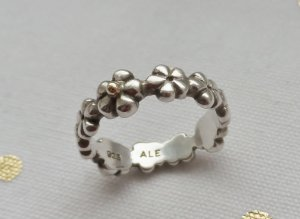 Pandora Silver Ring silver-colored-gold-colored real silver