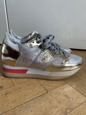 Orig PHILIPPE MODEL Platform Sneaker wNeu Plateau Schuhe 330€ gold tropez 36